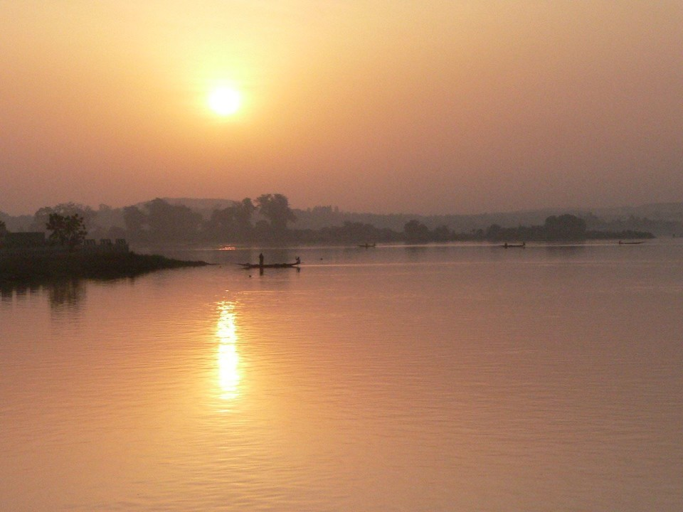 sander just marvellous Niger river sunset