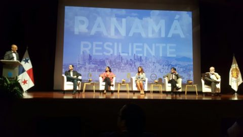The launching ceremony of Panama City's resilience strategy