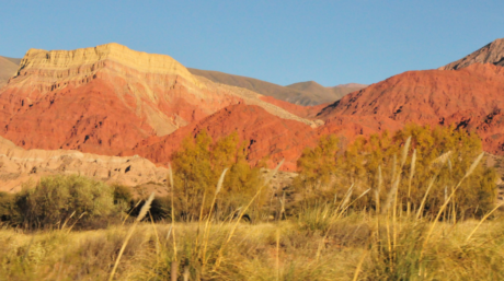 The colourful mountains of Andeas.